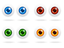 Eyeball Icon Set EPS Stock Image