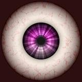 Eyeball illustration. Rendered illustration of bloodshot eyeball Stock Image