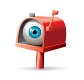 Eyeball in the mailbox Stock Image