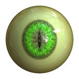 Eyeball of monster. Abstract scary 3d eyeball of a monster, Halloween background Stock Photo