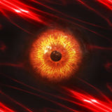Eyeball of monster. Abstract scary 3d eyeball of a monster, Halloween background Royalty Free Stock Photo