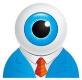Eyeball o homem de negócios ilustração stock