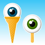 Eyeball popsicle. Staring eyeball popsicle / ice cream vector illustration