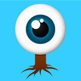Eyeball with roots Stock Photos