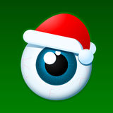 Eyeball santa Royalty Free Stock Images