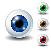 Eyeball set. Shiny Eyeball set in different colors eps10 Stock Photos