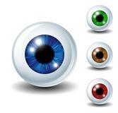 Eyeball set Stock Photos