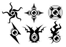 Eyeball tattoo Stock Images