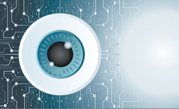 Eyeball technology art vector background Stock Image