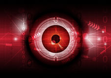 Eyeball and technology background Stock Images