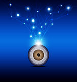 Eyeball with technology background Royalty Free Stock Image
