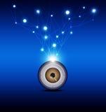 Eyeball with technology background Royalty Free Stock Image