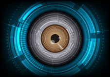 Eyeball technology background Stock Photos