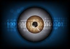 Eyeball technology background Royalty Free Stock Photography