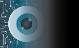 The eyeball of technology line and space background Royalty Free Stock Image