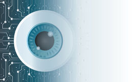The eyeball of technology line and space background Stock Photography