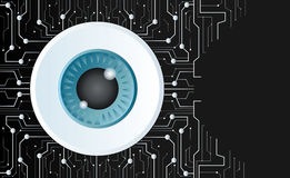 The eyeball of technology line and space background Royalty Free Stock Photo