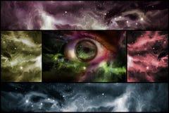 Eyeball Universe Collage Stock Image