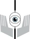 Eyeball view throw lens Royalty Free Stock Photography