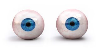 Eyeballs. Realistic eyeballs on white background Royalty Free Stock Photography