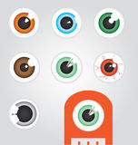 Eyeballs. All in different colors and styles great for use on cartoons Royalty Free Stock Photography