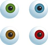 Eyeballs. A series of eyeballs in different colors Stock Image