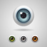 Eyeballs with big irises. Of blue, green, gray and hazel colors royalty free illustration