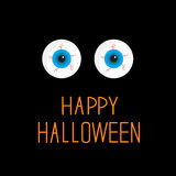Eyeballs. Blue eyes. Happy Halloween card. Stock Photography