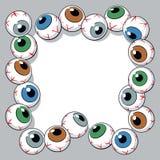 Eyeballs frame Stock Image