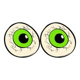 Eyeballs icon cartoon. Eyeballs icon in cartoon style isolated vector illustration Royalty Free Stock Photo