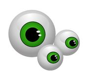 Eyeballs  isolated. Illustration background Stock Photography