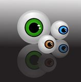 Eyeballs isolated vector. Illustration background Stock Photo