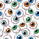 Eyeballs seamless pattern Stock Photos
