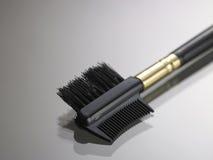 Eyebrow brush Stock Images