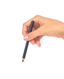 Eyebrow cosmetic Pencil in a female hand Stock Photography