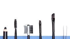 Eyebrow grooming tools Royalty Free Stock Photography