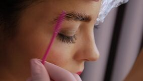 Free Eyebrow Lamination Procedure Stock Photos - 173581773