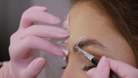 Eyebrow lamination procedure