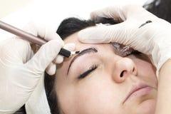 Eyebrow Mikrobleyding Royalty Free Stock Images