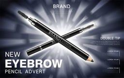 Eyebrow Pencil And Mascara Stock Photos