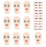 Eyebrow shape Royalty Free Stock Photo