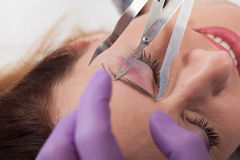 Eyebrow tattoo Royalty Free Stock Images