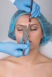 Eyebrow tattoo Royalty Free Stock Photos
