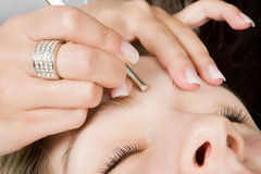 Eyebrow treatment Royalty Free Stock Photography