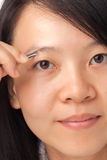 Eyebrows hair removal Stock Photography