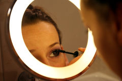 Eyebrush make Up Stock Photo