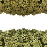 Eyecatching tło z copyspace i 3d sfer fractal ilustracji