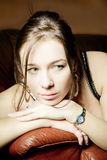 eyed κορίτσι πράσινο Στοκ εικόνες με δικαίωμα ελεύθερης χρήσης