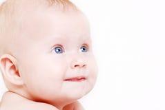 eyed голубое младенца меньшему портрету стоковая фотография rf