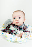 Eyed astonished baby Royalty Free Stock Image